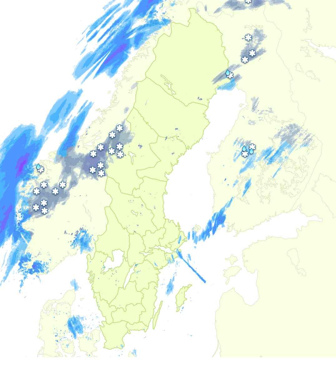 Regn/snö 4 dagar